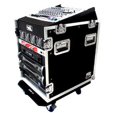 DJ / Mi Slant Rack System - 12U Slant Rack Depth / Vertical Rack, with Casters