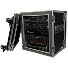 Deluxe Amplifier Rack System Case Shock Mount with Caster Board