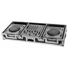 "DJ Coffin for 2 X Pioneer / Denon / Technics CD Players Plus 12"" Mixer with Wheels"