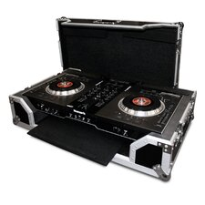 DJ Controller Case for Numark Ns7 Controller - with Pull Out Keyboard Tray and Low Profile Wheels