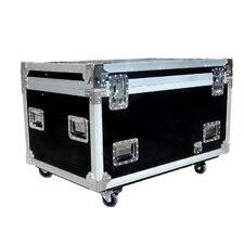 Utility Trunk with Caster Truck Pack, Adjustable Compartments and Pull Out Drawer