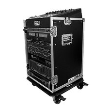 <strong>Road Ready Cases</strong> DJ / Mi Slant Rack System - 10U Slant Mixer Rack / Vertical with Caster Board