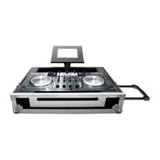 LapTop Trayz Series Case for Numark NS6 Controller - with Laptop Tray and Pull Out Handle and Wheels