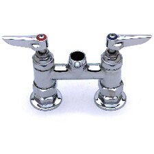 "Deck Mount 4"" Centerset Faucet with 6"" Swing Spout"