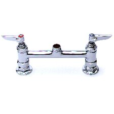 "Deck Mount Centerset Faucet with 18"" Double Jointed Swing Spout"