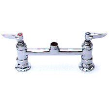"Deck Mount 8"" Centerset Faucet with Rigid Gooseneck Spout"