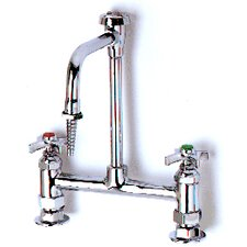 Ledge Mixing Lab Faucets with Standard Gooseneck Swivel Spout