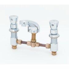 Widespread Bathroom Faucet with Push Handle