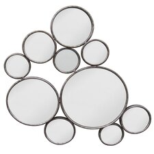 Random Circle Metal Wall Mirror