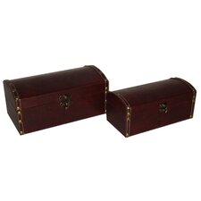 2 Piece Vinyl Round Top Keepsake Box Set