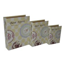"3 Piece ""Bon Appetite"" Vinyl Book Box Set"