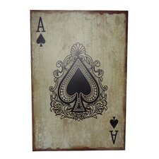 Ace of Spades Graphic Art Plaque