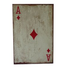 <strong>Cheungs</strong> Ace of Diamonds Wooden Wall Decor