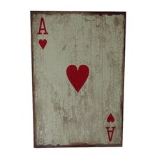 Ace of Hearts Graphic Art Plaque