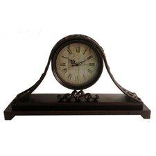 Mantel Clock with Metal Base