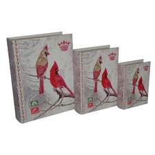 <strong>Cheungs</strong> 3 Piece Book Box with Vintage Cardinal Duo Set
