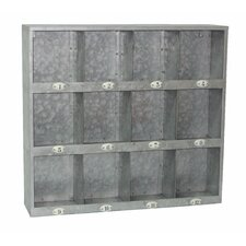 Galvanized Wall Cubby