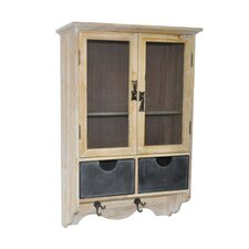 Shabby 2 Drawer Wall Cabinet
