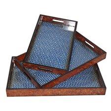 3 Piece Egyptian Key Tray Set