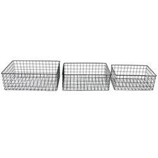 3 Piece Wire Basket Set