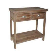 2 Drawer Wood Hallway Table with 1 Lower Shelf