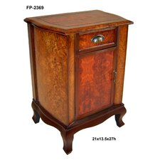 Wooden 1 Door with Cupped Handle Cabinet