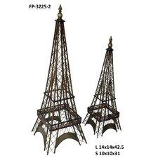 2 Piece Eiffel Tower Statue