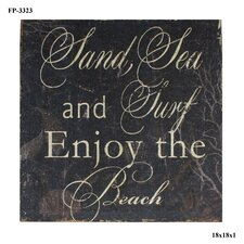 Sand, Sea, Surf Textual Art