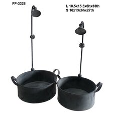 Metal 2 Piece Watering Nozzle Bucket