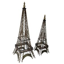 2 Piece Eiffel Tower Statue