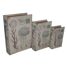 <strong>Cheungs</strong> Coral and Sea Book Box (Set of 3)