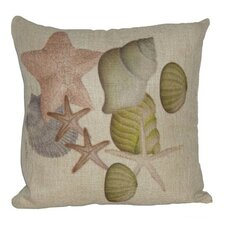 Shell and Sand Dollar Linen Pillow