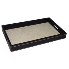 Linen Rectangular Serving Tray