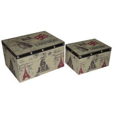 <strong>Cheungs</strong> London / Paris Keepsake Box (Set of 2)