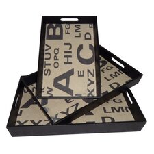 Alphabet Rectangular Serving Tray (Set of 3)