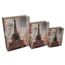 Paris / Eiffel Tower Book Box (Set of 3)