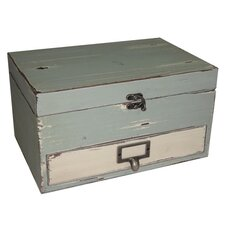 Rectangular Box with Lid and Drawer
