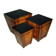 Square Tapered Planters (Set of 3)