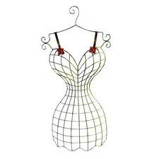Wire Dress Form on Hanger Sculpture
