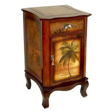 Wooden Palm Tree Design Cabinet