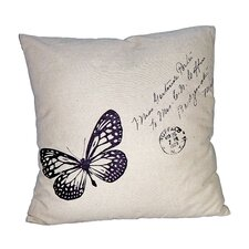"18"" Square Pillow with Butterfly"