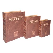 """Tour Eiffel"" Book Box (Set of 3)"