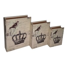 Light Edition Crown Book Box (Set of 3)