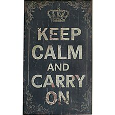 Keep Calm and Carry On Textual Art