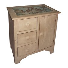 1 Door and 3 Drawer Cabinet