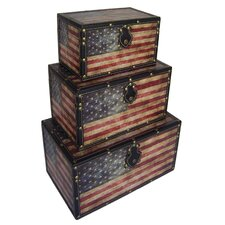 American Flag Trunk (Set of 3)