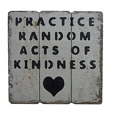 Wooden Wall Art with Kindness Textual Art