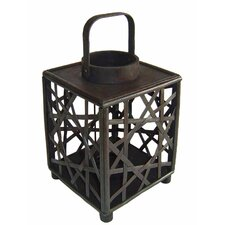 Tall Wooden Square Lantern