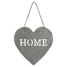 "Heart Shaped ""Home"" Sign Wall Décor"