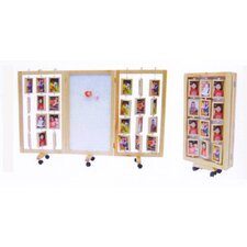 "59"" x 72"" Multi Functional Photo Display 3 Panel Room Divider"